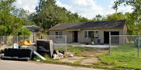 trashed house to renovate